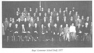 Llanelly Boys Grammar School Staff Photo 1977