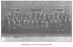 Llanelly boys grammar school staff photo 1966